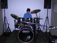 Felipe no estúdio de ensaio CTMLA