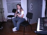 Luisa no estúdio de ensaio CTMLA
